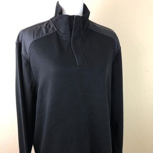 Perry Ellis Sweater XL Black Zipper Long Sleeves